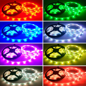 RGB LED Light Strip LED 5050 ruban flexible bande de lumière DC12V 5M 10M 20M à distance Kit complet pour le salon / lit / cuisine