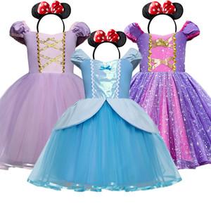Cute Baby Girl Dress Rapunzel Princess Cosplay Costume Halloween Girl Clothes Children Party Dress Kids Dresses For Girls