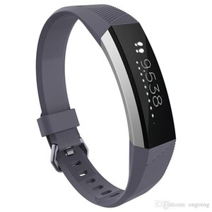 12 color 2016 Newest Silicone Watch band Bracelet Wrist Strap For Fitbit Alta HR Smart Watch No Tracker small large size