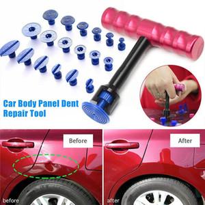 19 قطع السيارات dent إزالة أدوات كيت سيارة الجسم لوحة مجتذب المهنية إزالة لوحة أداة السيارات موتو أدوات إصلاح الضرر HHA287
