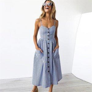 iONtj verano de las mujeres vestidos de Long Beach Lluxury diseñador del verano Mujer Vestidos casual Mar mujeres s Estilo de Cutton mezcla suave y cómodo Dres
