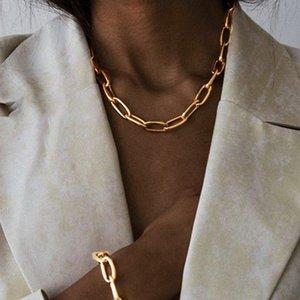 IPARAM Мода Панк Большой Толстый цепи Choker ожерелье 2020 Женщины гот Fashion Night Club Jewelry Женский Chocker Collier