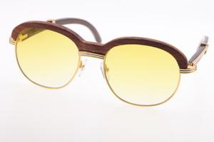 2020 Оптовая резного дерева Солнцезащитные очки Горячие 1116443 Вуд очки унисекс очки Decor Вуд кадр Пилотные Солнцезащитные очки UV400 вождения очки