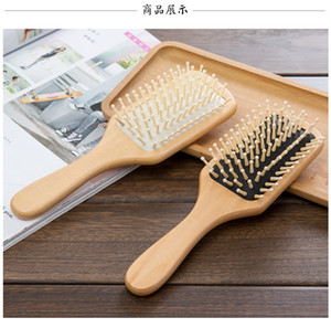 Spazzola per capelli Massaggio in legno Spa Massage Comb 2 colori Antistatic Hair Comb Massage Head Promuovere la circolazione sanguigna