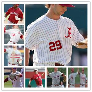 كلية NCAA الاباما قرمزي المد البيسبول مخيط جيرسي مخصص أي اسم أي عدد الشحن المجاني جيت مانينغ كودي هنري