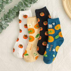 Korea Version von Rohr College-Stil Paar Socken Großhandel Cartoon Obst Harajuku tide Socken Joker lässig