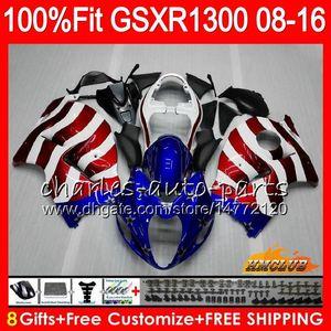 Injecção Para SUZUKI Hayabusa USA FLAG azul GSXR1300 08 18 GSXR 1300 25HC.155 GSXR-1300 2008 2009 2010 2011 2012 2013 2014 2015 2016 Carenagem