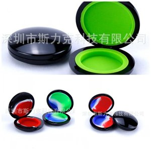 Silicone Dab Containers 60*15mm Smoking Box Circular Case Modelling Camouflage Smoking Tools Men And Women New Arrival 3 5sl D2