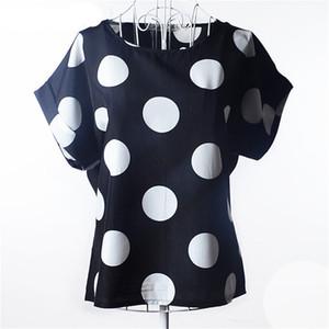 Style été Big Dots Femmes Blouse 19 Type Grande Taille Femme Impression Blouse Chemise Chemise En Mousseline De Soie Blusas Femininas Roupas