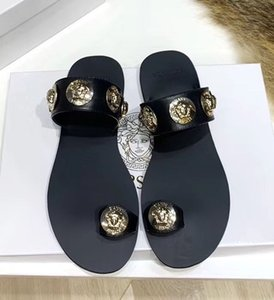 For Sale New fashion wild non-slip medus flats shoes sexy comfortable trend leather luxuryw flats sandals Size 35-43 with box