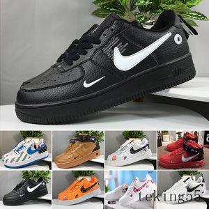 Nike air force 1 one off white \أحذية عالية الجودة الرجال سكيت مصمم رخيصة جديد واحد أحذية دونك 1 حك اليورو الهواء نسائية عالية جميع أبيض أسود أحمر مدرب الرياضة W-CH2