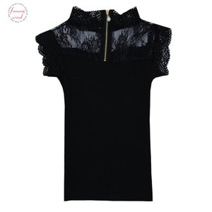 Mulheres Knitting Patchwork Lace oco Out Sólidos Regatas Camisole Tops mangas camisetas Meninas Sexy doce Tops Tanques Knitwear