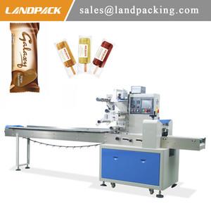Máquina de embalagem Multifunction do gelado horizontal automático da máquina de empacotamento do picolé