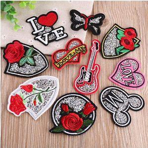Patches Iron On Sew-on Rose Flor Bordados patch Applique Crianças Mulheres da roupa dos chapéus DIY Roupas Jeans Etiqueta frete grátis