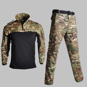 Tactical Training Frog Clothes Men Camouflage Army Shirts Pants Suits Outdoor Camping Hiking Shooting Sport Military Uniform Set Outdoor Jac