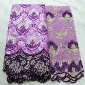 Bazin riche getzner 2019 nouveau high quality french lace fabric with  latest african guipure cord lace 5+2yard PL-40