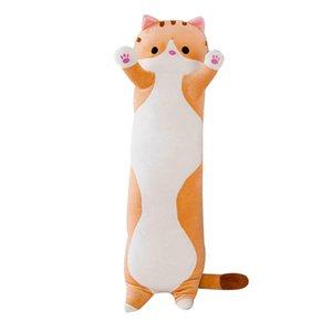 50/70 / 90CM sveglio del giocattolo gatto peluche lunghe in cotone Cat bambola sveglia del giocattolo della peluche farcito molle cuscino di sonno Comfort cuscino lungo bambola # guahao