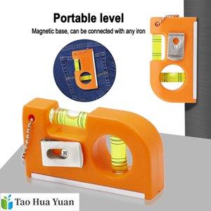 Mini portátil de tipo correa Mini postal del nivel de alcohol Nivel magnético fuerte de aleación de aluminio + ABS balance de la cremallera de la regla