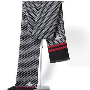 Luxo Lenços decorativos 2 cores Geometric scraf Bee Impressão frete grátis Winter Classic homens de negócios Xales Lenços