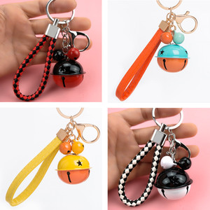 Fashion Handmade Leather Rope Woven Keychain Metal key rings Key Chains Men or Women Holder Key Cover Auto Keyring Gifts