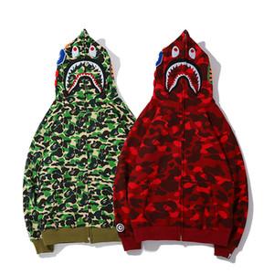 BAPE Herren Stylist Hoodies Männer Frauen Stylist Jacke Langarm Bape Mens-Qualitäts-Hip Hop-Sweatshirts Grün Rot