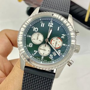 Curtis Kartal Karşıt Yeşil 1884 Kuvars Kronometre Erkek Saatler Okunabilir Arapça Rakamlar İşaretleyiciler Rubber Band İzle saatı Dial