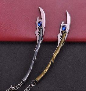 10pcs 2 Renk Avengers 4 Loki Chitauri Asası Anahtarlık Marvel Silah Evil Thor God of Thunder Kılıç Keyrings Son Oyun Erkekler Takı