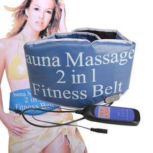 Poids Perte Poids Sauna Chauffage + Thérapie Vibrante Masseur Ceinture Slim Fitness Muscle Abdominal Formateur Exerciseur Taille Fat Burning