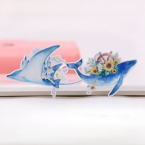 20PCS baleia azul sonha Adesivos Ofícios eo álbum de recortes Outros Toysing adesivos etiqueta do livro do estudante adesivo decorativo DIY papelaria