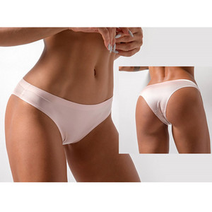 Seamless Sexy Panties Ladies Low Waist Thong Tango Comfortable Solid T-string Yoga Shorts Sports Triangle Panties Plus Size