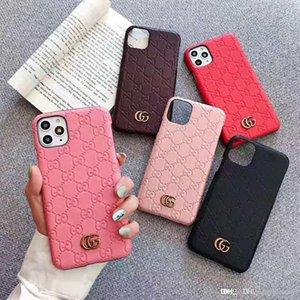 lüks tasarımcı Deri Klasik iphone 11 vaka IphoneXSMAX XR XS Iphone7P 8P 7 8 6P 6 moda markası tam kapak koruyucu telefon kılıfı