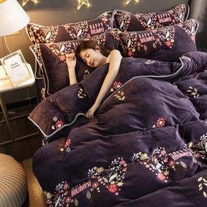 Bir Kış Kalın Mercan Kadife Bebek Fleece Nevresim Flanel Nevresim Süt Linter Bed Etek Bedding