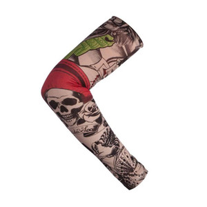 새로운 나일론 탄성 가짜 임시 문신 슬리브 야외 암 슬리브 선 스크린 낚시 OPP와 함께 문신 암 스타킹 탄성 슬리브를 운전