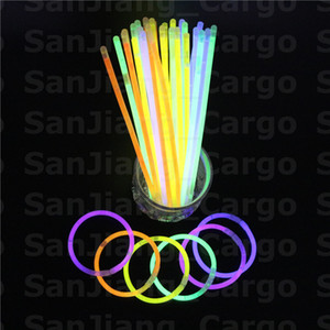 Luminous Multicolor vara do fulgor pulseira colares Festa Neon LED piscando Light Stick Wand Novidade Toy Vocal Concert LED Flash Sticks E31008