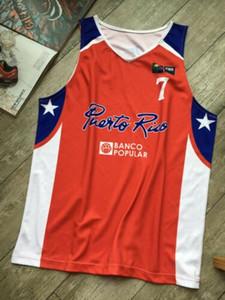 Yeni Carlos Arroyo # 7 Porto Riko Ulusal Basketbol formalar baskı özel herhangi adı Numarası 4XL 5xl 6XL jersey