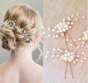 Koreli gelin saç tokası düğün takı inci kristal saç tokası U şekilli klip gelinlik saç stil aksesuarları boncuklu