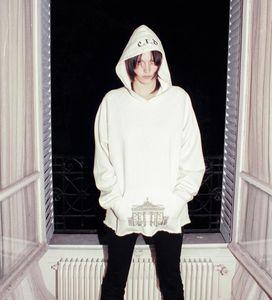 İl Baskı Kadife Kapüşonlular High Street Moda Kapşonlu Sweatshirt ekle Yasak Erkek Kapüşonlular Enfants Riches Deprimes erd