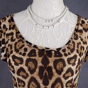 Robe d'été Femmes femme Robe Casual Taille Plus imprimé léopard manches Volants partie Robes de soirée Fille Robe Vestidos Vente chaude