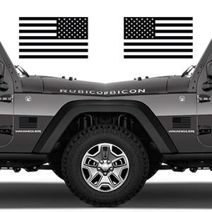 "1 Paar Klassische Biker-Gang Verhaltene American Flags Tactical Military Flag USA Aufkleber Jeep 5,5 ""x3"""