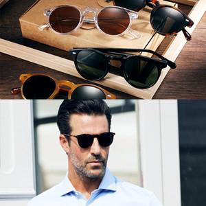 Vintage Polarized Lense Ov5186 Durchsichtige Sonnenbrille Gregory Peck Markendesigner Männer Frauen Sonnenbrille Retro Gafas Oculos Y19052004