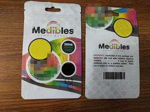 empty edibles gummy candy retail packaging bag Medibles mylar smell proof plastic ziplock pouch 7 style 2020 hot
