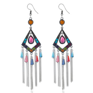 Bohemian rhombic Pendant Earrings