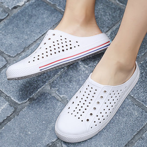 Coslony Sandals Men Hole Shoes Crocks Shoes Rubber Clogs For men Women White Croc Unisex Couple Shoe Summer Beach Slippers