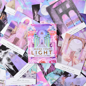 44 Sheets Work Your Light Oracle Cards English Vesion Board Game Cards for Family Party Entertainment Other Golf Products