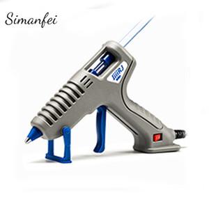 Electric Silicone Gun DIY heiße Schmelzkleber-Gewehr + 10Pcs Klebestifte Reparatur Heat Tool