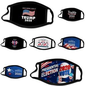 Mode Luxe Masque Visage Lettre Imprimer Masque Masques respirant unisexe réutilisable Lavable randonnée à vélo Designer Trump Face Mask # 284