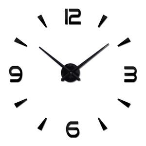 new sale diy wall clock brief quartz watch clocks acrylic mirror wall sticker home decoration living room still life stickers Wall Clocks