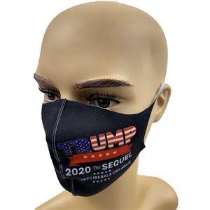 Trump Face Masss 2020 الامدادات الانتخابية الأمريكية الغبار طباعة قناع عالمي للرجال والنساء مصمم قناع IIA199