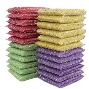 Hot Sale Kitchen Nonstick Oil Scouring Pad Oil Cleaning Cloth Washing Towel Brush Bowl Cloth Sponge