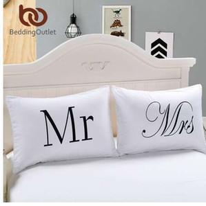 BeddingOutlet Mr and Mrs Pillow Cases Coppia federe Pillole Case e sue federe personalizzate